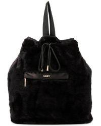 Liu Jo - Faux Fur Backpack - Lyst
