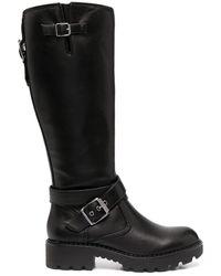 Buffalo バックル ブーツ - ブラック