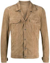 Salvatore Santoro Leather Long Sleeve Shirt - Multicolour