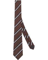 Fendi Cravate à rayures - Marron