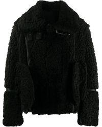 DIESEL パネル ライダースジャケット - ブラック