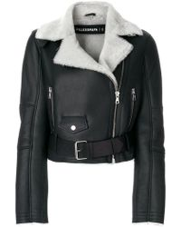 Filles A Papa - Cropped Shearling Lined Jacket - Lyst