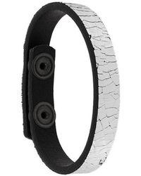DIESEL - Crackle Effect Cuff Bracelet - Lyst