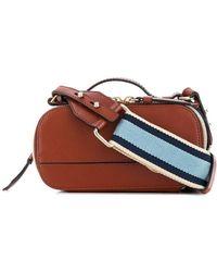 Chloé Мини-сумка С Металлическим Логотипом - Коричневый