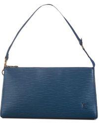 Louis Vuitton Epi Pochette Accessoires Handtas - Blauw