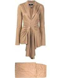 Elisabetta Franchi Draped Two-piece Suit - Brown