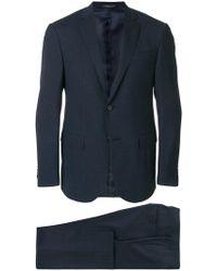 Corneliani - Micro Print Single Breasted Suit - Lyst