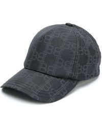 Balmain ロゴプリント キャップ - ブラック