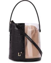 L'Autre Chose Bucket-tas Met Doorzichtig Vlak - Zwart