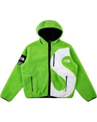 Supreme X The North Face S Logo Fleece Jacket - Green
