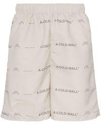 A_COLD_WALL* ロゴ ショートパンツ - ナチュラル