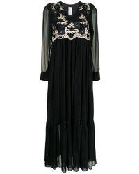 Antonio Marras フローラル ロングスリーブドレス - ブラック