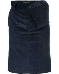 Y. Project Falda con cintura drapeada asimétrica - Azul
