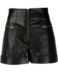 Twin Set Faux Leather Shorts - Black
