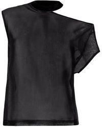 RTA アシンメトリー Tシャツ - ブラック