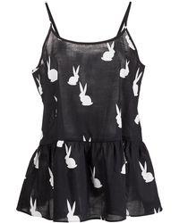 Cynthia Rowley Conjunto de pijama Honeybunny - Negro