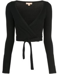 Michael Kors Wrap Knitted Top - Black
