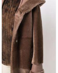Blancha Manteau à taille nouée - Marron