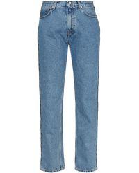 Christopher Kane Crystal-embellished Side Stripe Jeans - Blue