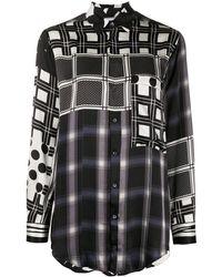 Pierre Louis Mascia Рубашка В Клетку - Черный