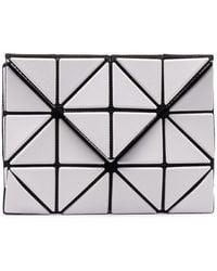 Issey Miyake Geometric Panelled Wallet - Grey