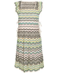 M Missoni - Ruffle Trim Knit Dress - Lyst