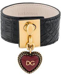 Dolce & Gabbana - Heart Locket Cuff Bracelet - Lyst