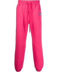 ADER error Logo Patch Track Trousers - Pink