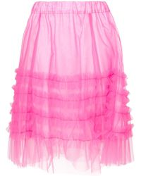 P.A.R.O.S.H. - Frilled Tulle Skirt - Lyst