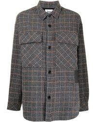 Izzue Houndstooth Long Sleeved Shirt - Brown