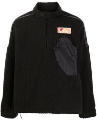 Off-White c/o Virgil Abloh - Zipped Pocket Fleece Jumper - Lyst