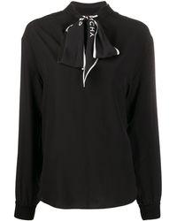 Givenchy スカーフディテール ブラウス - ブラック