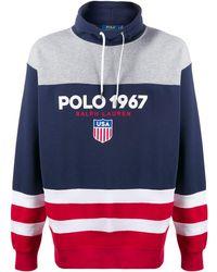 Polo Ralph Lauren - カラーブロック スウェットシャツ - Lyst