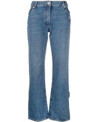 Off-White c/o Virgil Abloh Logo-print Cropped Jeans - Blue