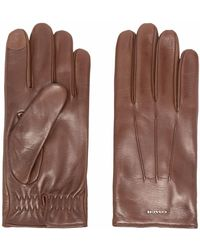 COACH ロゴトリム 手袋 - ブラウン