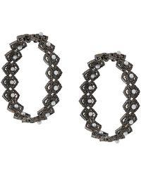 Colette ダイヤモンド フープピアス 18kブラックゴールド - マルチカラー