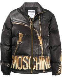 Moschino Пуховик С Логотипом - Черный