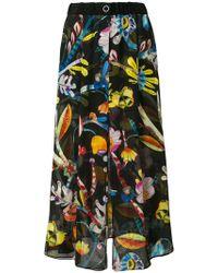 Giorgio Armani - High-waisted Floral Skirt - Lyst