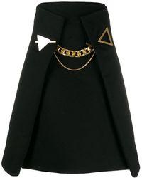 Bottega Veneta Aライン スカート - ブラック