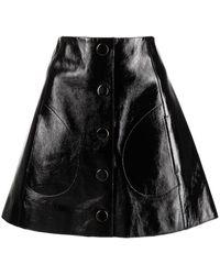 Khaite Sam レザー ミニスカート - ブラック