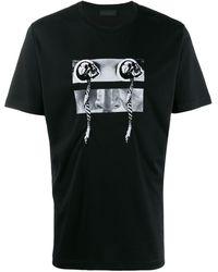 Diesel Black Gold プリント Tシャツ - ブラック