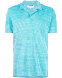Orlebar Brown スプレッドカラー ポロシャツ - ブルー