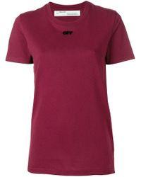 Off-White c/o Virgil Abloh - Logo Short-sleeve T-shirt - Lyst