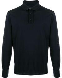 Ermenegildo Zegna Fine knit polo jumper - Blu