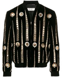 Saint Laurent - Teddy Varsity Jacket - Lyst