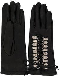Manokhi Перчатки Со Шнуровкой - Черный