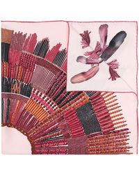 Longchamp Beaded Feather Pattern Scarf - Pink