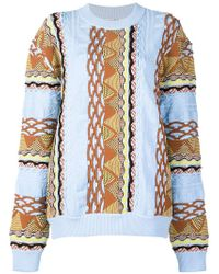 AALTO - Coogi Knitted Pullover In Straight Fit - Lyst
