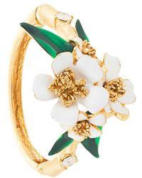 Oscar de la Renta - Flower Bangle - Lyst