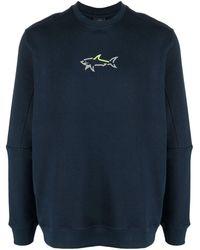 Paul & Shark Jersey con logo estampado - Azul